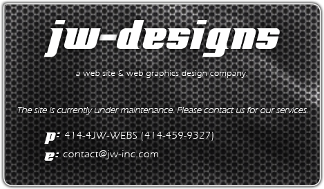 Welcome to JW-Design: a web site & web graphics design company.